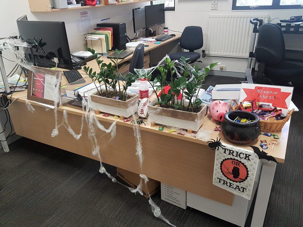 Admin Front Desk Halloween decorations E8B 206 2017